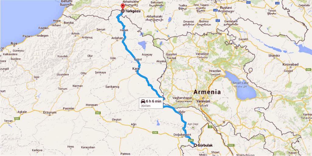 مسیر تهران به گرجستان