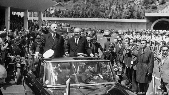 افتتاحیه تونل مونت بلانک