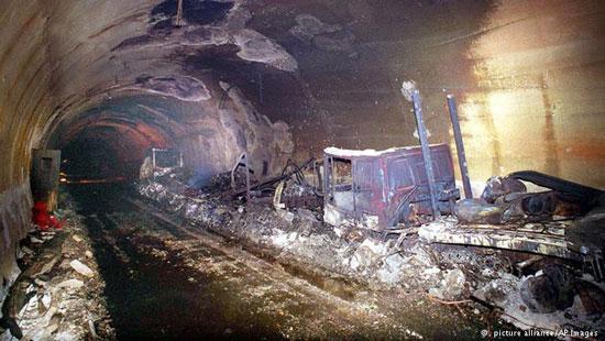 آتش سوزی در تونل مون بلانک