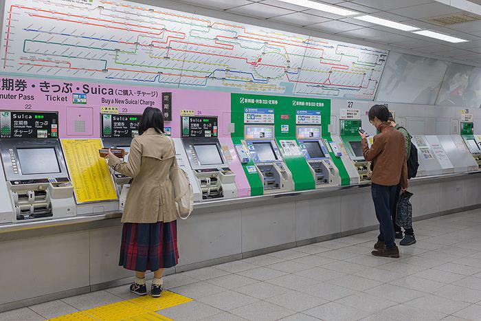 دستگاههای فروش بلیط مترو توکیو