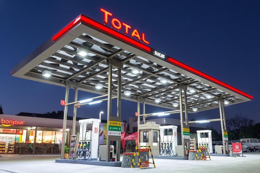 پمپ بنزین شرکت توتال